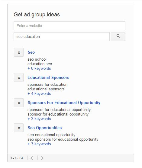 adwords LSI ideas