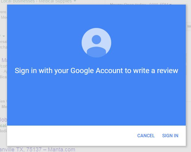 google account for review